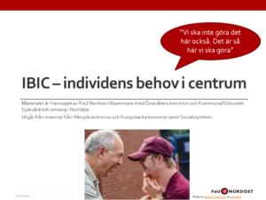IBIC för utförare – utbildningsmaterial publicerat