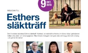 Esthers släktträff – nationell konferens om äldres hälsa 9 okt 2019