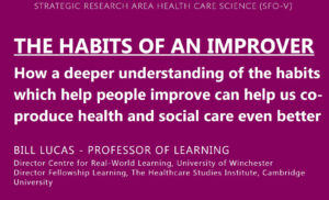 Seminarietips: The habits of an improver/En förbättrares vanor 5 dec